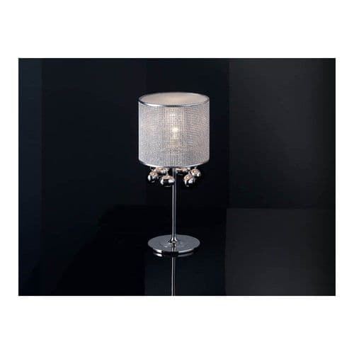 Schuller 174414 Andromeda 1 Light Table Lamp Polished Chrome Clear